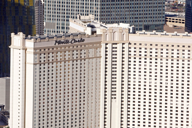 Two men were stabbed early Friday morning near the Monte Carlo, according to Las Vegas police. (Duane Prokop/Las Vegas Review-Journal file)