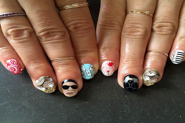 Bold Nail Art Is Latest Rage In Fashion Hollywood Las Vegas
