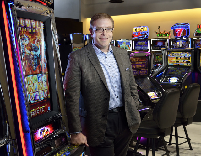 Mike Dreitzer, president-North America at Ainsworth Game Technology, is shown in the company's showroom at 6975 S. Decatur Blvd. in Las Vegas on  Wednesday, July 23, 2014. (Bill Hughes/Las Vegas R ...