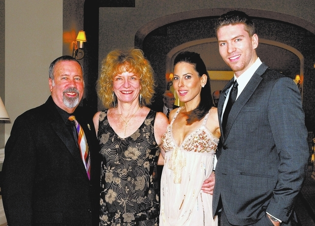 Alan and Rhoda Stock, from left, Kerri Kasem and Jesse Kove