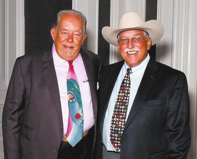 Robin Leach, left, and Bob Cummings