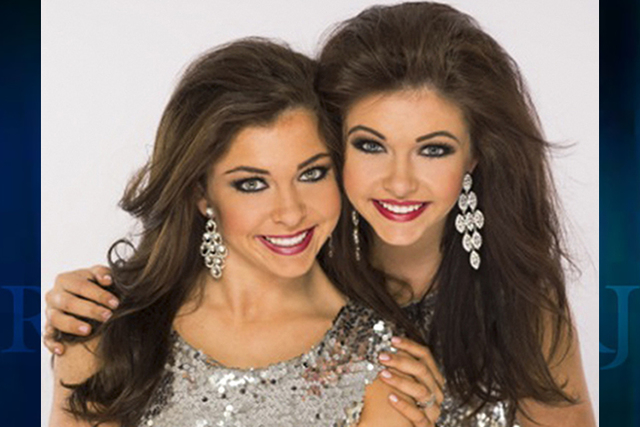 Amy Smith, shown here with her sister, Ellie, plans to compete in Miss America's Outstanding Teen Pageant next week. (Courtesy)