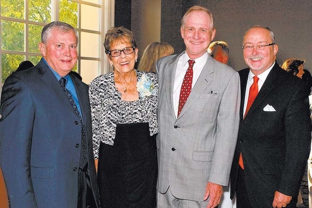 Lawson Fox, from left, Earlene Lefler, Tom Axtell and Myron Martin