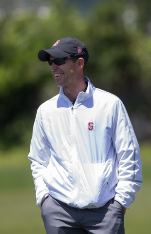 Philip Rowe, an assistant coach with the Stanford men's golf, during the 68th Annual Western Intercollegiate Golf Tournament at Pasatiempo Golf Club in Santa Cruz. Calif., in April. Rowe joins the ...