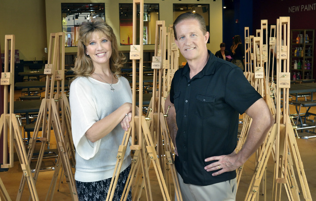 Pinot's Palette owners Judy and Reed Alewel are shown at their store in The District at Green Valley Ranch at 2260 Village Walk Drive in Henderson on Thursday, Aug. 14, 2014. The business is sched ...