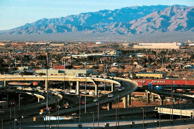 Project Neon would widen Interstate 15 from Sahara Avenue to the Spaghetti Bowl. (Las Vegas Review-Journal file)