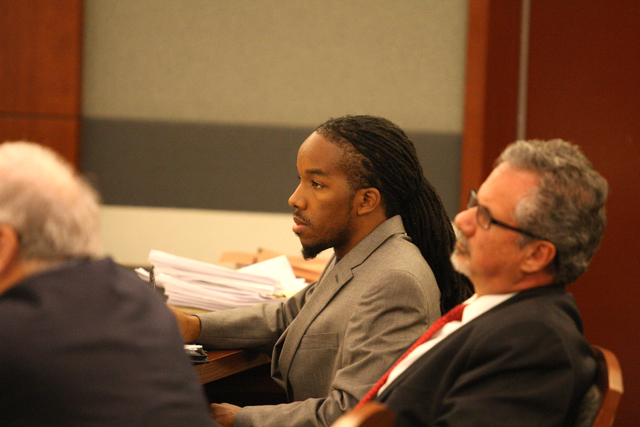 Robert Jackson, the man accused of shooting four people on the strip, listens to testimony during his trial on Wednesday, August 20, 2014. (Michael Quine/Las Vegas Review-Journal)