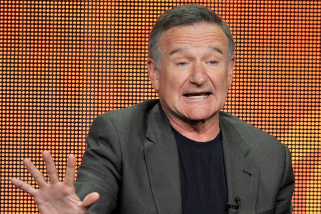 """Robin Williams participates in """"The Crazy Ones"""" panel at the CBS Summer TCA in Beverly Hills, Calif., on July 29, 2013. Williams died Monday of an apparent suicide in home near San Francisco. (Pho ..."""
