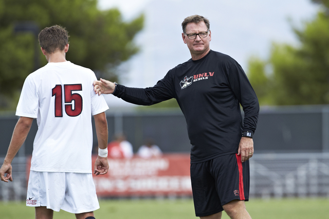 UNLV soccer is on the upswing, thanks to the hard work of coach Rich Ryerson. He took over the the program when its future was in doubt, and sold fireworks at a Fourth of July stand to keep the te ...