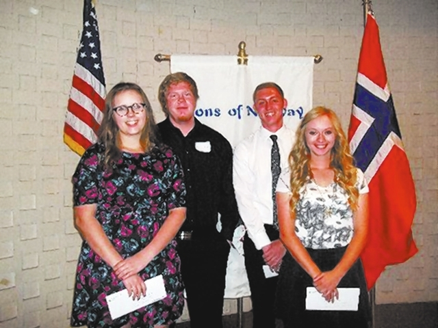 From left, Jessica Reed, Nathan Gifford, Sean Cortney and Amanda Fehr, Clark County students with Norwegian ancestry, have been awarded $3,100 in scholarships by the Vegas Viking Lodge of the Sons ...