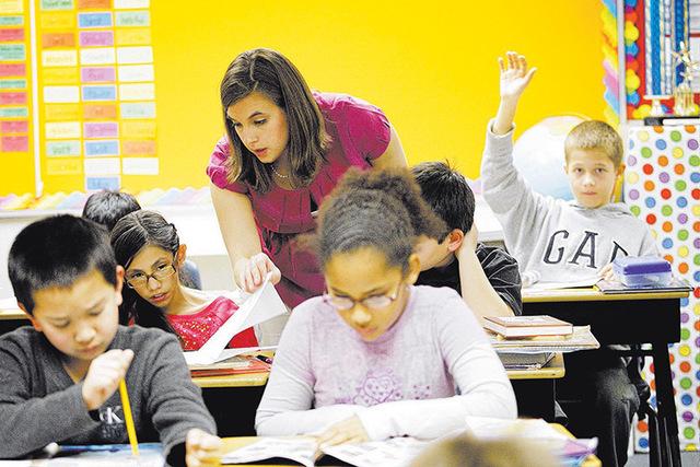 Students at Robert L. Forbuss Elementary School in Las Vegas on Wednesday, Jan. 9, 2013. (Jessica Ebelhar/Las Vegas Review-Journal)