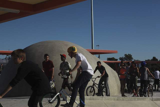 People ride their bikes at Craig Ranch Regional Park skate park, 628 W. Craig Road, in North Las Vegas, in October 2013. (Special to View)