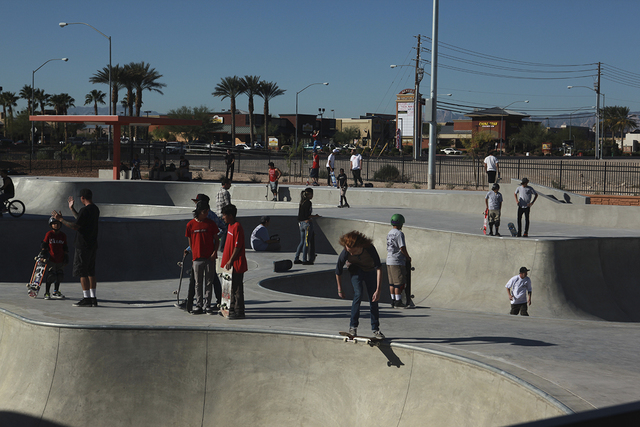 People gather at Craig Ranch Regional Park skate park, 628 W. Craig Road, in North Las Vegas, in October 2013. (Special to View)