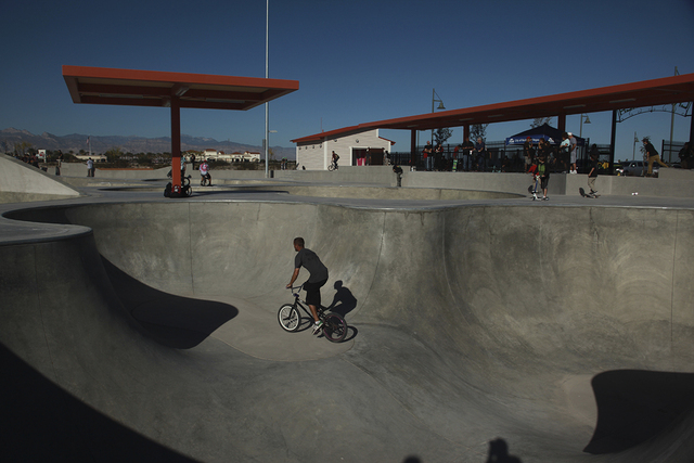 A man rides his bike at Craig Ranch Regional Park skate park, 628 W. Craig Road, in North Las Vegas, in October 2013. (Special to View)