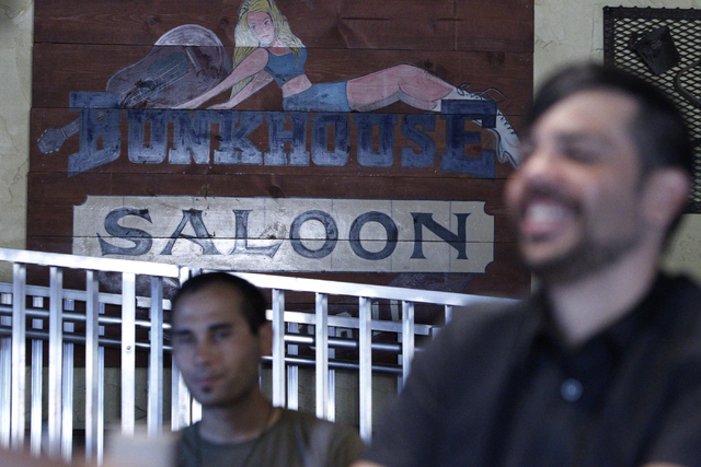Employees participate during a training at Bunkhouse Saloon, 124 S. 11th St. in Las Vegas Tuesday, Aug. 19, 2014. The re-opening of Bunkhouse Saloon is scheduled for Aug. 25. (Erik Verduzco/Las Ve ...