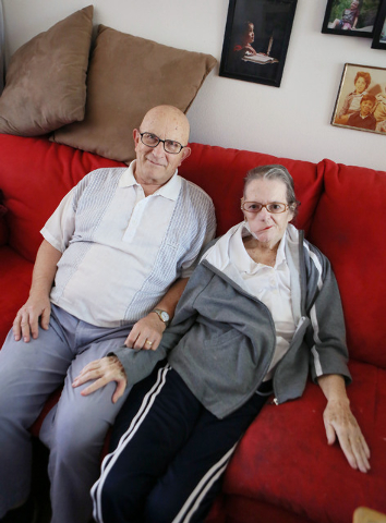 Shirley Andrews, right, sits with her husband Richard in their home Thursday, July 24, 2014, in Las Vegas. After a long search for treatment, the Andrews found local neurosurgeon Dr. Bohdan Chopko ...