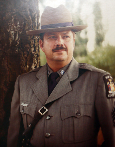 Provided photo from Dennis Glans c. 1980 as a New York State sergeant.