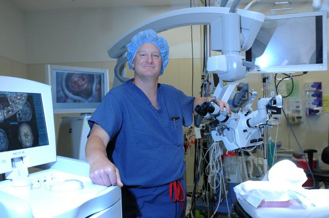 Dr. Bohdan Chopko poses for a portrait inside an operating room at St. Rose Dominican Hospital San Martin campus, 8280 W. Warm Springs Road, in Las Vegas Thursday, July 24, 2014. (Erik Verduzco/La ...