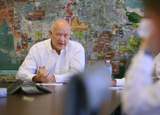 John Knott, executive vice president and global head of gaming at CBRE Global Gaming Group, speaks during a news conference at CBRE Global Gaming Group Wednesday, Aug. 20, 2014, in Las Vegas. The  ...
