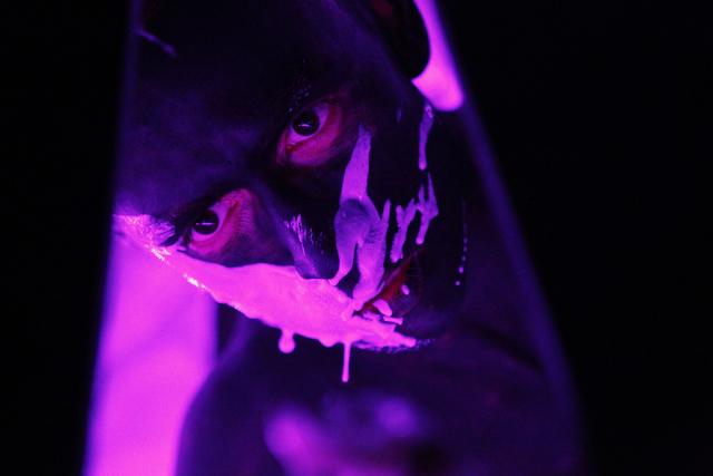 "Performer Renzo Vitale performs during a live stream performance of ""Tell Me Your Secrets"" at P3 Studio at The Cosmopolitan of Las Vegas on Saturday, Aug. 16, 2014. (Erik Verduzco/Las Vegas Review ..."