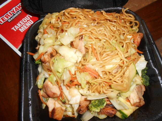 Yakisoba noodles are shown at Teriyaki Madness, 6171 N. Decatur Blvd., Suite 110. (Jan Hogan/View)