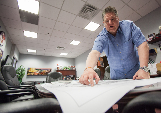 Thomas & Mack Center Executive Director Mike Newcomb talks about slated renovations for the arena in his office in Las Vegas on Wednesday, Jan. 29, 2014. State lawmakers have approved $47 million  ...