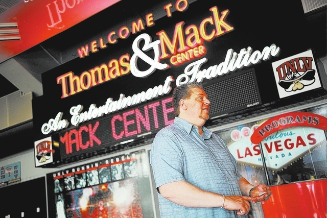 Thomas & Mack Center Executive Director Mike Newcomb talks about slated renovations for the arena in the concourse area in Las Vegas on Wednesday, Jan. 29, 2014. State lawmakers have approved $47  ...