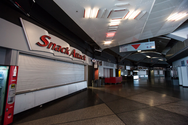A portion of the concourse is seen at the Thomas & Mack Center in Las Vegas on Wednesday, Jan. 29, 2014. State lawmakers have approved $47 million for renovations, which will include expansion of  ...
