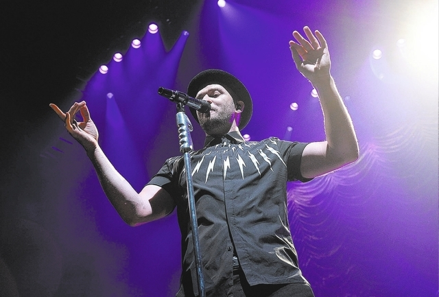 Singer Justin Timberlake performs an exclusive show for Citi, American Airlines and MasterCard cardholders at the Hammerstein Ballroom on Thursday, July 10, 2014 in New York. (Photo by Evan Agosti ...