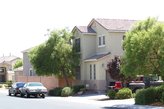 North Las Vegas police responded to a home Monday, Aug. 25, 2014, where a 20-month-old boy was in extremely critical condition after being found in a swimming pool at a home in the 7000 block of S ...