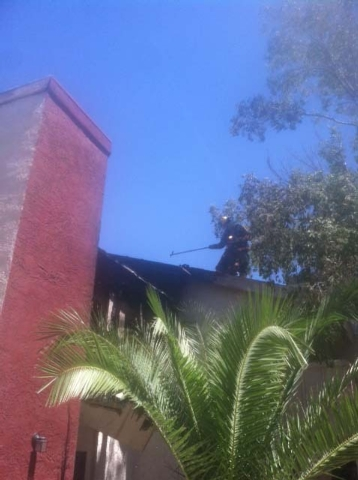 Clark County Fire Department responded to a fire at the Tropicana Royale apartments. (Courtesy Clark County Fire Department)