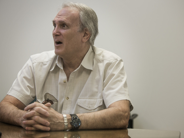 Veteran Bruce Brent as seen Monday, June 2, 2014 during interview at the Review-Journal. He discussed his experiences dealing with the Veterans Administration. (Jeff Scheid/Las Vegas Review-Journal)