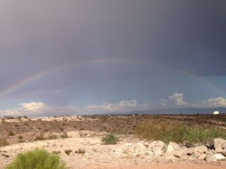 A rainbow is seen over Henderson after Wednesday's storm. (Laura V/submitted via At the Scene on the RJ app)