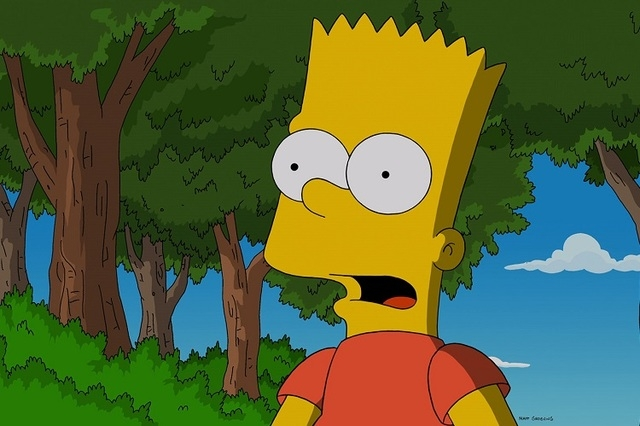"""THE SIMPSONS: During the annual """"Race Around The School"""", Bart must decide if he should help a friend in need or lose the race in the """"Yellow Badge of Cowardge"""" Season Finale e ..."""