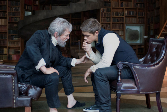 "Jeff Bridges and Brenton Thwaites star in ""The Giver."" (Courtesy, The Weinstein Company)"