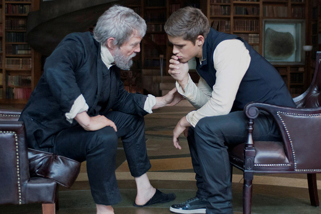 """Jeff Bridges, left, and Brenton Thwaites star in """"The Giver."""" (Courtesy The Weinstein Company)"""