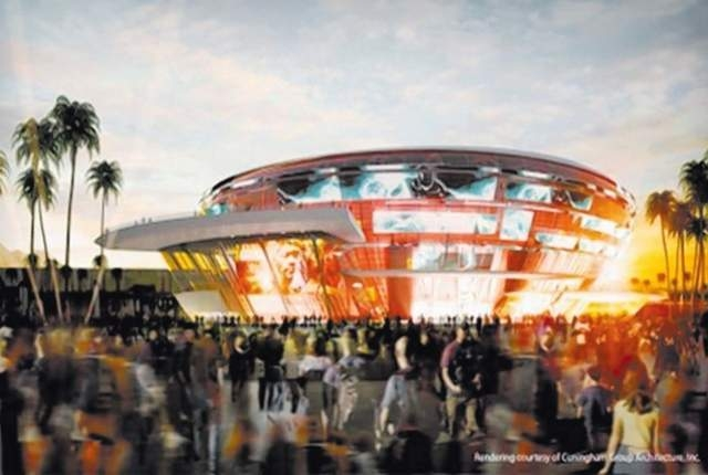 A rendering shows the proposed All Net Resort & Arena. (Courtesy)