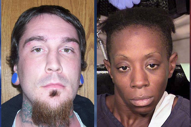 Cody David Winters, left, and Natasha Jackson were the assailants in the home invasions on July 29, 2014. Winters was shot to death at the scene. Jackson has been charged in the case. (Courtesy)