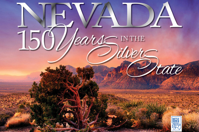 """Readers can celebrate Nevada's 150th birthday with the official Nevada Sesquicentennial book, """"Nevada: 150 Years in the Silver State,"""" edited by Geoff Schumacher."""