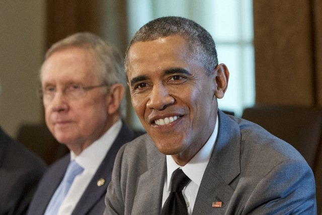 Without Harry Reid on his side, Barack Obama's presidency could effectively be over. (AP Photo/Jacquelyn Martin)