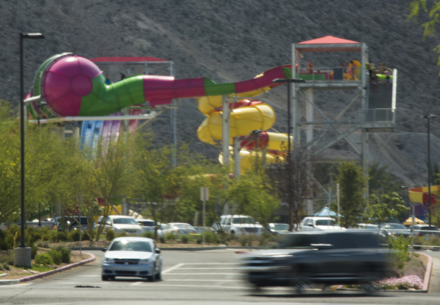 Traffic as seen Tuesday, May 27, 2014 at Wet 'n' Wild,7055 S Fort Apache Road. .Traffic engineers are hoping to install two traffic signals near the water park this summer. (Jeff Scheid/Las Vegas ...
