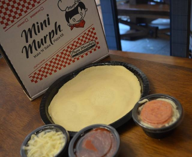 Papa Murphy's Mini Murph is a pint-size pizza kit that comes with dough, pizza sauce, cheese and pepperoni that children can assemble themselves. (Ginger Meurer/View)