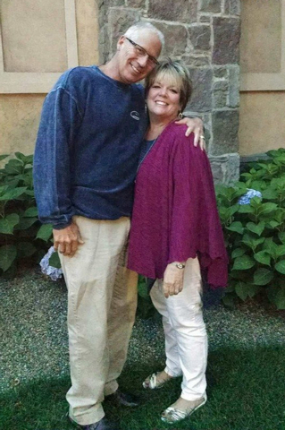 This undated photo provided by Randy Budd shows him and his wife, Sharon Budd, a middle school language arts teacher. On July 10, 2014, a football-sized rock thrown from an interstate overpass in  ...