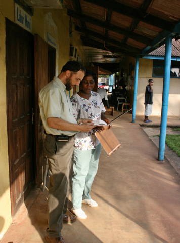 Dr. Richard Sacra is seen in this undated family handout photo working in Liberia. Sacra is the third American doctor reported to have contracted the Ebola virus while treating the African breakou ...