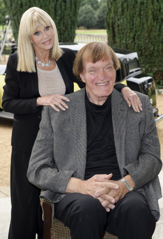 """FILE - In this Sept. 21, 2012 file photo, from left, Britt Ekland and Richard Kiel attend a photocall for the """"Bond 50"""" anniversary in London. Kiel, the towering actor best known for por ..."""