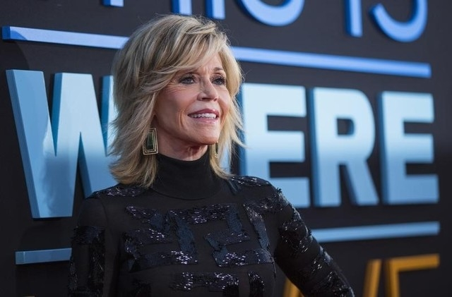 """Cast member Jane Fonda poses at the premiere of """"This Is Where I Leave You"""" in Hollywood, California September 15, 2014.  (Mario Anzuoni/Reuters)"""