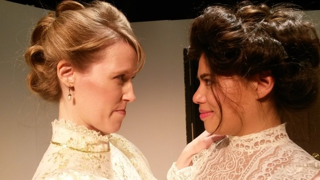 """Jessica Hird and Natalie Senecal appear in Las Vegas Little Theatre's production of David Mamet's """"Boston Marriage,"""" which begins at three-weekend run Friday. (Courtesy photo)"""