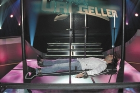"""Riviera magician Jan Rouven demonstrates the """"Table of Death"""" illusion he says he introduced in 2009. Rouven is concerned that an illusion Criss Angel performs on Fremont Street today for a new TV ..."""