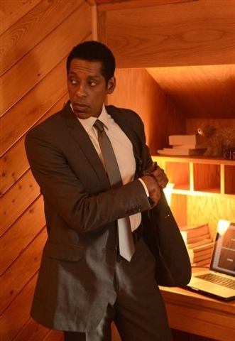 """This photo released by Fox shows Orlando Jones as Cptn. Frank Irving in a scene from the series, """"Sleepy Hollow,"""" on the Fox Network. Two of the actors from the Fox TV series, Orlando Jo ..."""
