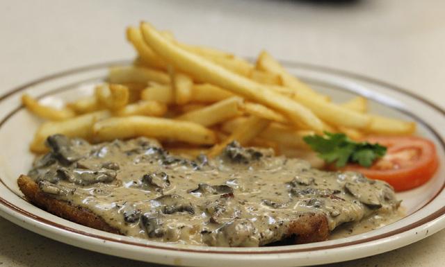 The schnitzel dish at the Bavarian Castle restaurant in Henderson on Sunday, Sept. 14, 2014. (Justin Yurkanin/Las Vegas Review-Journal)